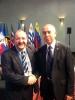 Con el embajador de  Guatemala