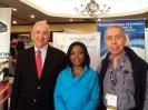 Con el presidente de Pepsi y Sherry Tross