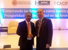 El secretario adjunto de la OEA, el embajador Landín con Salvador Ortega