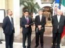 Insulza, Landin y el embajador de México ante la OEA, Joel Hernández
