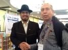 Salvador Ortega con el Embajador de Bolivia